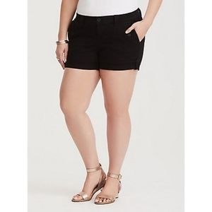 Torrid | Black Twill Military Short